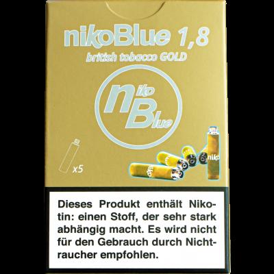 nikoBlue refill gold 1.8% Nicotin